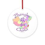 Zhenghe China Map Ornament (Round)
