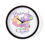 Zhenghe China Map Wall Clock