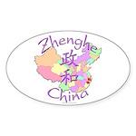 Zhenghe China Map Oval Sticker (10 pk)