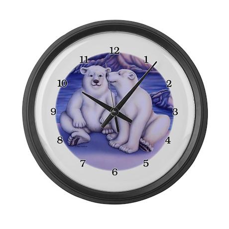 Polar Attraction Large Wall Clock