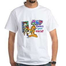 Garfield Art White T-Shirt