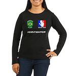 MuayJitsu Women's Long Sleeve Dark T-Shirt