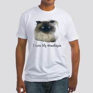 I Love My Himalayan Fitted T-Shirt