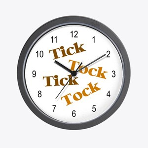 'Tick Tock' Wall Clock