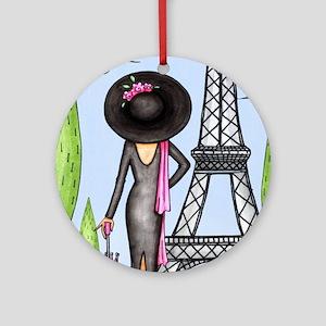 Eifel Tower Fashion Ornament (Round)