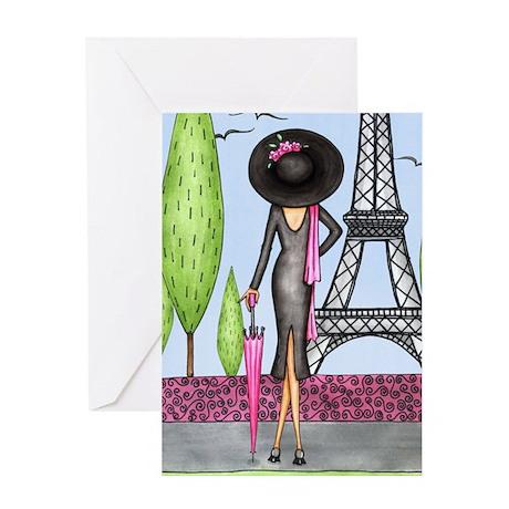 Eifel Tower Fashion Greeting Card