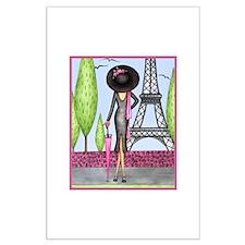 Eifel Tower Fashion Large Poster