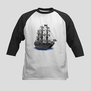 Mystical Moonlit Pirate Ship Baseball Jersey
