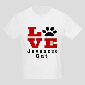Love javanese Cats Kids Light T-Shirt
