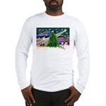 Xmas Magic & Whippet Long Sleeve T-Shirt