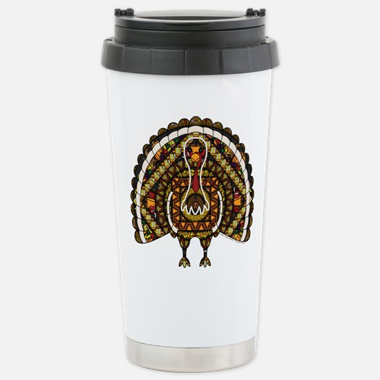 Fall Turkey Stainless Steel Travel Mug