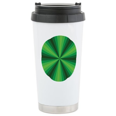 Green Illusion Stainless Steel Travel Mug