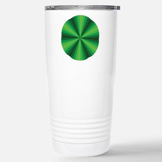 Green Illusion Stainless Steel Travel Mug