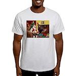 Santa's Whippet Light T-Shirt