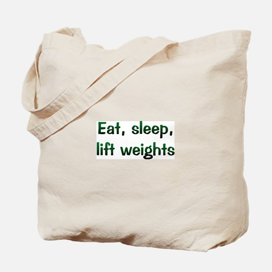 Lift Weights Tote Bag