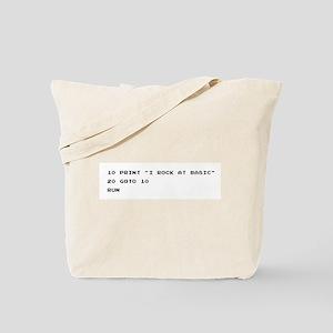 I ROCK AT BASIC Canvas Tote Bag