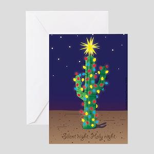 Southwest Christmas Cactus Greeting Card