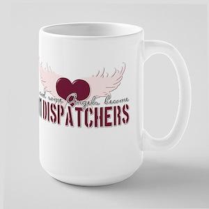 ...and some angels become 911 Large Mug