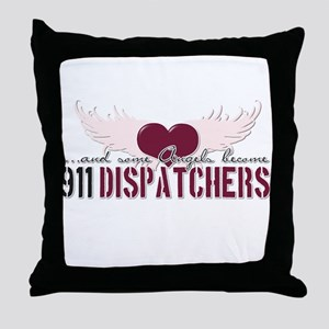 ...and some angels become 911 Throw Pillow