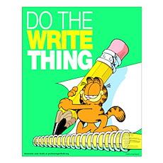 Garfield Writing Small Poster