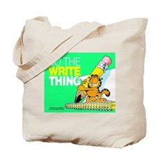 Garfield Writing Tote Bag