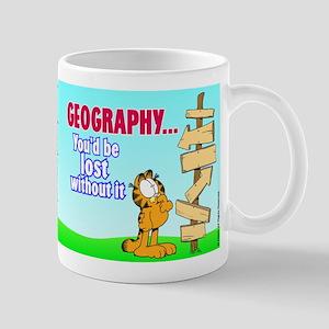 Geography Garfield Mug
