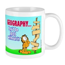Geography Garfield Mug