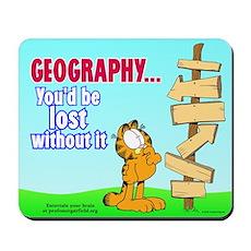 Geography Garfield Mousepad