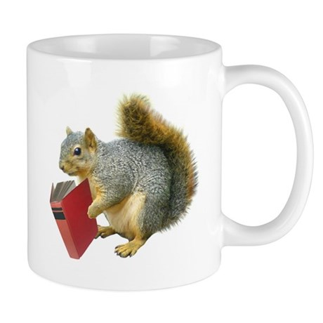 Squirrel with Book Mug