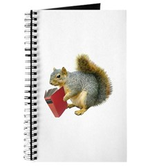 Squirrel with Book Journal