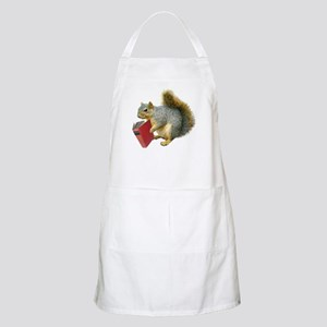 Squirrel with Book BBQ Apron