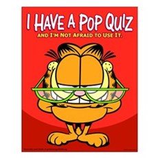 Pop Quiz Garfield Small Poster