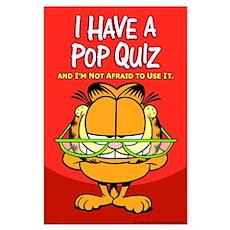 Pop Quiz Garfield Large Poster