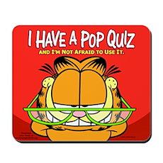 Pop Quiz Garfield Mousepad