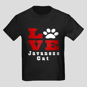 Love javanese Cats Kids Dark T-Shirt