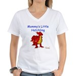 Mommy's Little Hatchling Women's V-Neck T-Shirt