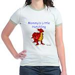 Mommy's Little Hatchling Jr. Ringer T-Shirt