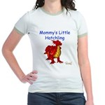 Mommy's Little Hatchling Jr. Ringer T-Shirt