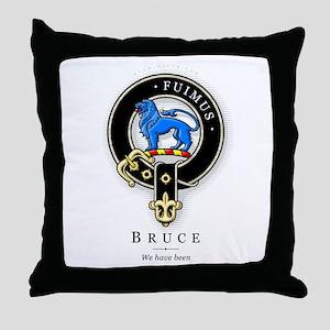 Clan Bruce Throw Pillow