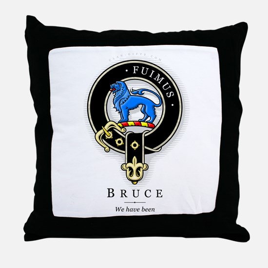 Clan Bruce Throw Pillow