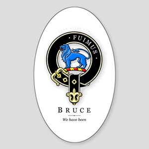 Clan Bruce Oval Sticker