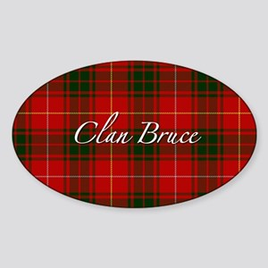 Clan Bruce - Just Tartan Oval Sticker