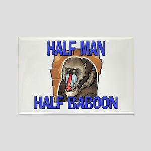 Half Man Half Baboon Rectangle Magnet