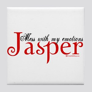 Mess With My Emotions Jasper Tile Coaster