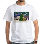 XmasMagic/Wheaten (#2) White T-Shirt