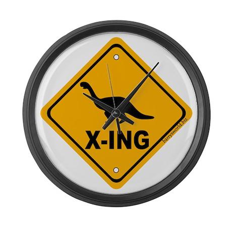 Dino4 X-ing Large Wall Clock