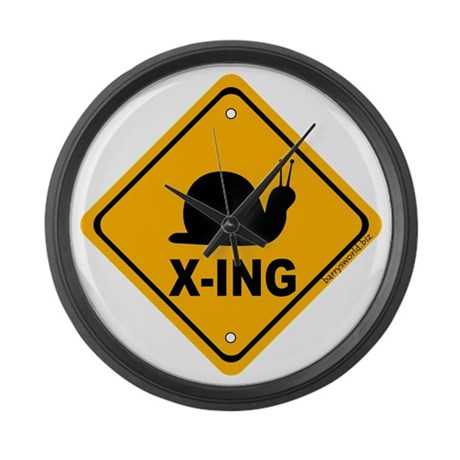 Snail X-ing Large Wall Clock