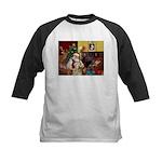 Santa's Wheaten (#7) Kids Baseball Jersey