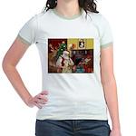 Santa's Wheaten (#7) Jr. Ringer T-Shirt