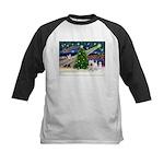 Xmas Magic & Westie Kids Baseball Jersey